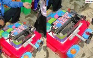 """Super Kreatif, Pria Ini Manfaatkan Bekas Mesin Printer Untuk Buat """"Es Robot"""""""