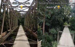 Geser Dikit Nyawa Hilang, 2 Cewek Ini Lewati Jembatan Yang Bikin Ngeri