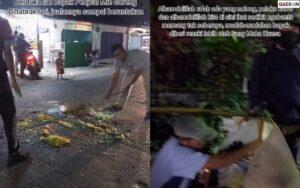 Penjual Mie Goreng Ini Jadi Korban Tabrak Lari, Dagangannya Berserakan Di Jalan