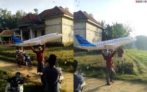 Viral, Miniatur Pesawat Buatan Santri Di Madura Ini Dapat Penghargaan Bupati