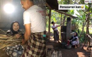 Unik, Pasangan Ini Prewedding Di Dapur Tradisional Pakai Daster Dan Sarung