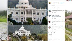 Viral, Rumah Mewah Nan Megah Berada Di Tengah Persawahan