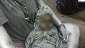 Viral, Bayi 10 Bulan Di Tangsel Dilumuri Cat Diajak Ngamen Jadi 'Manusia Silver'