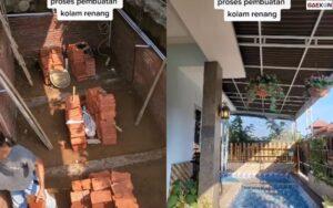 Viral, Perempuan Bikin Kolam Renang Dibalik Pagar Rumahnya, Warganet: Ada Maling Manjat Langsung Nyebur